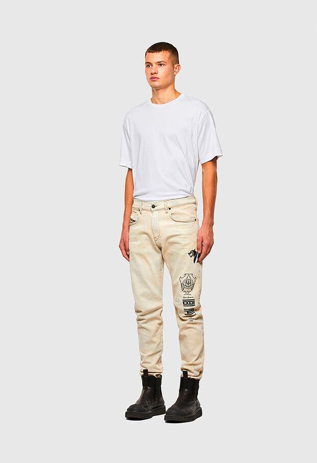 D-Strukt 009KV, White - Jeans