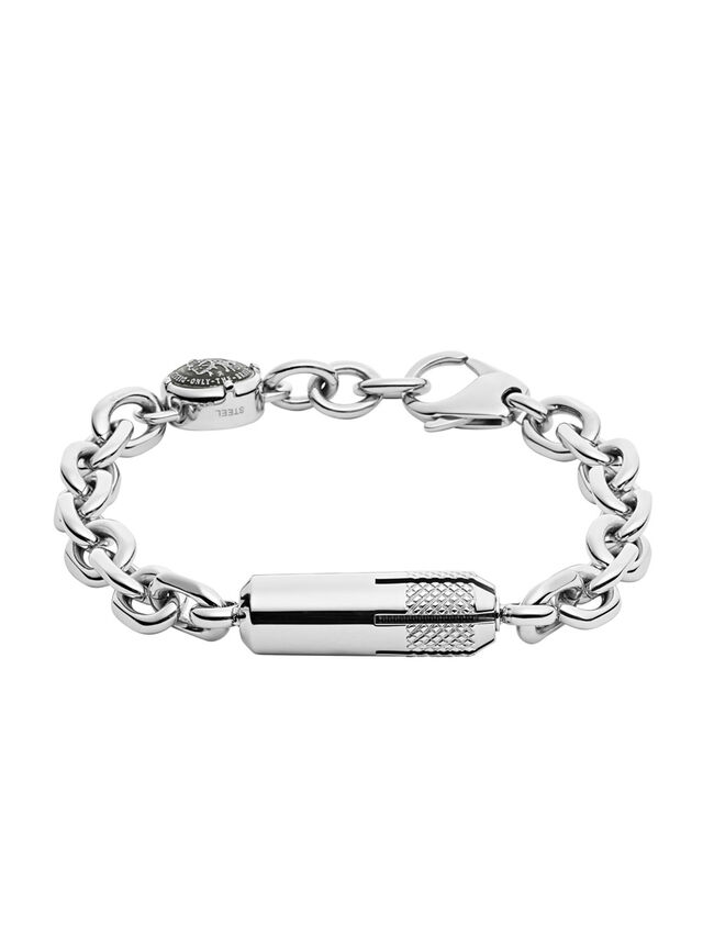 Diesel BRACELET DX1024, Silver - Bracelets - Image 1
