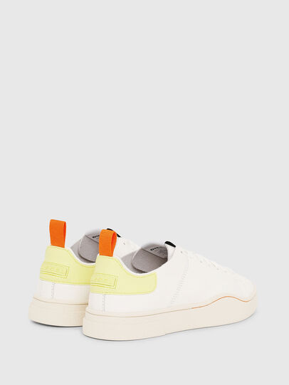 Diesel - S-CLEVER LS W, White/Yellow - Sneakers - Image 3