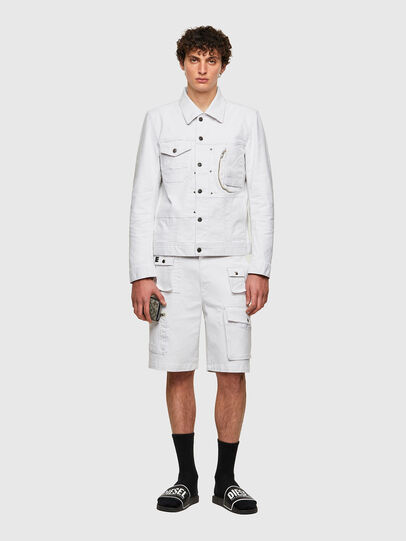 Diesel - D-COSNIL-SP, White - Denim Jackets - Image 5