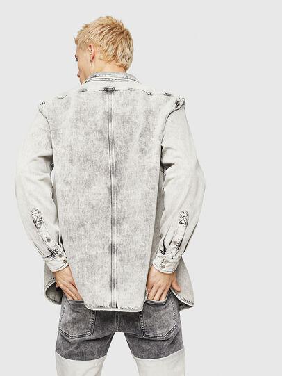Diesel - D-MILOV, Grey - Denim Shirts - Image 2