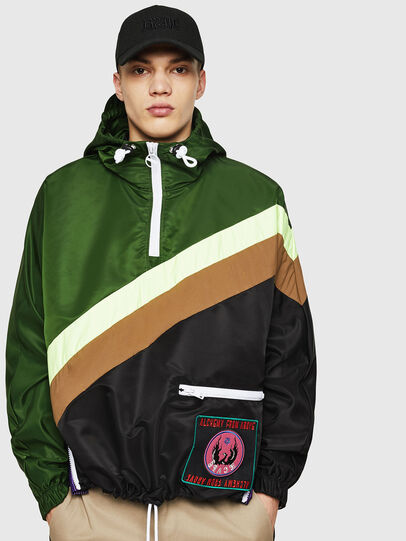 Diesel - J-ANTY, Green/Black - Jackets - Image 1