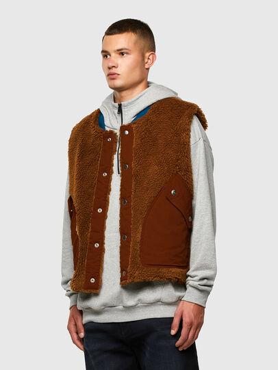 Diesel - W-HEROESY, Blue/Brown - Winter Jackets - Image 4