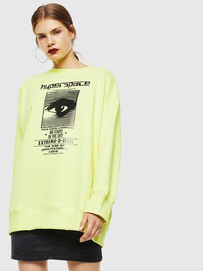 Diesel - F-AKUA, Yellow Fluo - Sweaters - Image 1