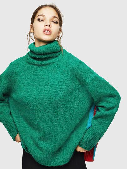 Diesel - M-PERSIA, Green/Red - Knitwear - Image 1