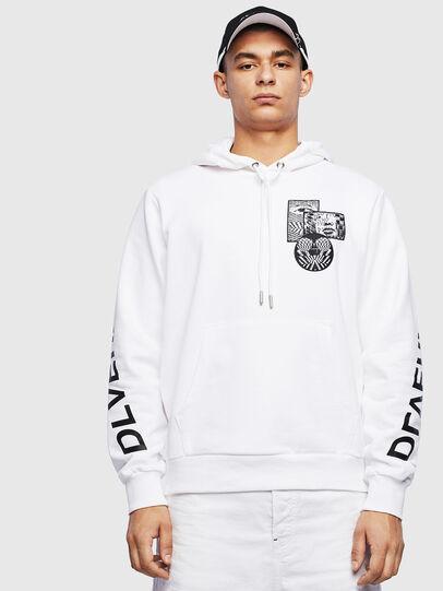 Diesel - S-GIRK-HOOD-S4, White - Sweaters - Image 1