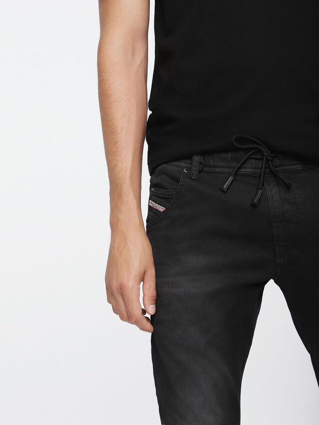 Diesel - Krooley JoggJeans 0670M, Black Jeans - Jeans - Image 3