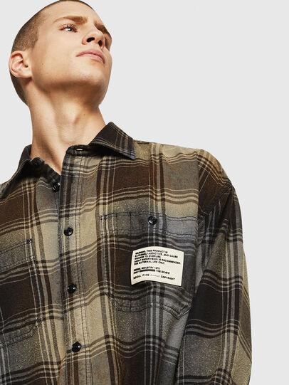 Diesel - S-MINER, Brown - Shirts - Image 5