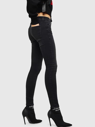 Diesel - Slandy Low 069GG, Black/Dark grey - Jeans - Image 5