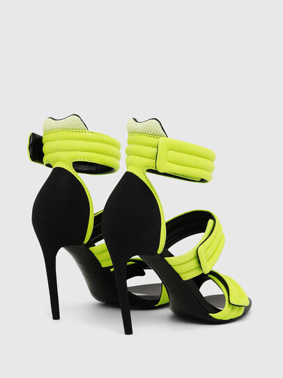 Diesel - SA-SLANTY HST, Yellow Fluo - Sandals - Image 3