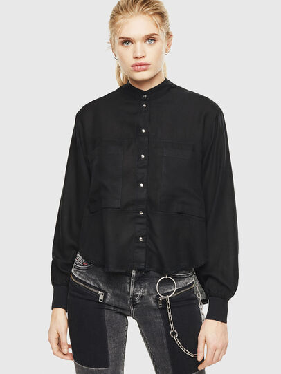 Diesel - C-SUPER-E, Black - Shirts - Image 5