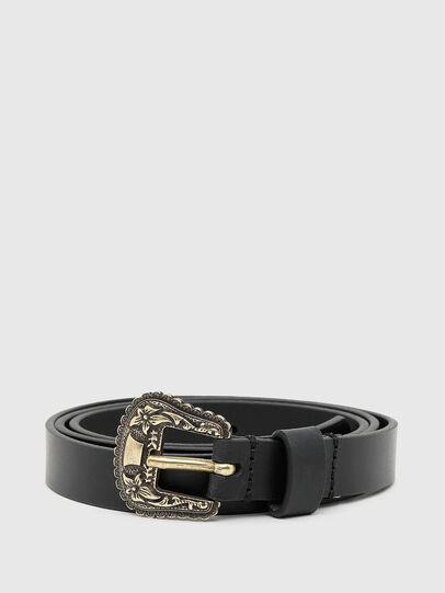 Diesel - B-TEXY, Black/Gold - Belts - Image 1