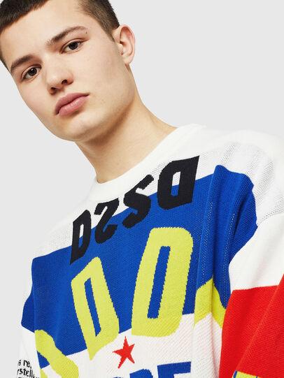 Diesel - K-RUBLO, White/Red/Blu - Knitwear - Image 3