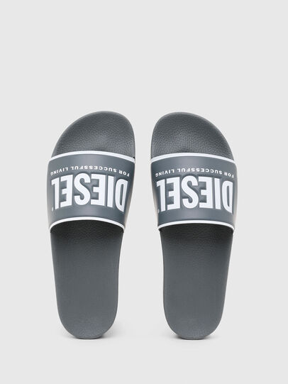 Diesel - SA-VALLA, Grey - Slippers - Image 4