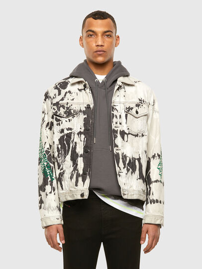 Diesel - NHILL-SP3, Black/White - Denim Jackets - Image 7