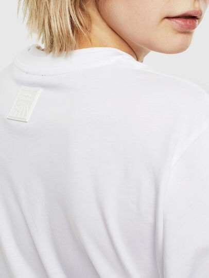 Diesel - T-HUSTY-LS, White - T-Shirts - Image 6