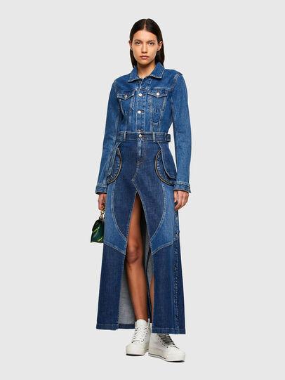 Diesel - DE-PEN, Medium blue - Skirts - Image 6
