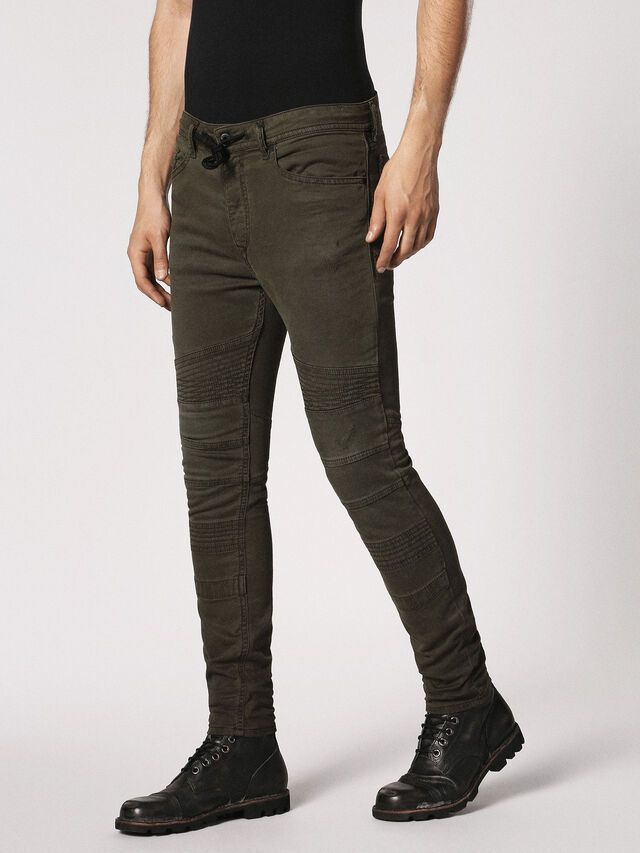 Diesel - BAKARI JOGGJEANS 0684T, Olive Green - Jeans - Image 6