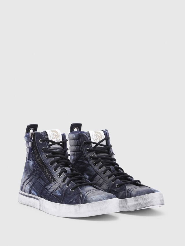Diesel - D-VELOWS MID LACE, Black/Blue - Sneakers - Image 2