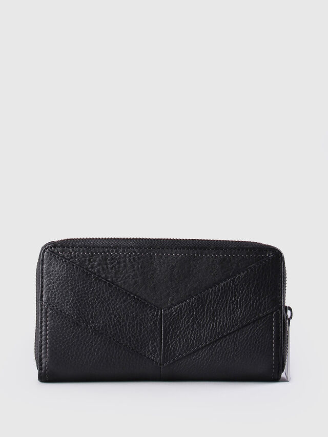 Diesel - GRANATO, Black Leather - Zip-Round Wallets - Image 2
