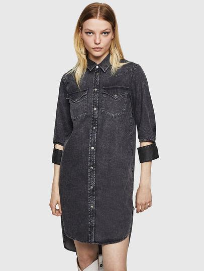 Diesel - DE-BLANK, Black/Dark grey - Dresses - Image 1
