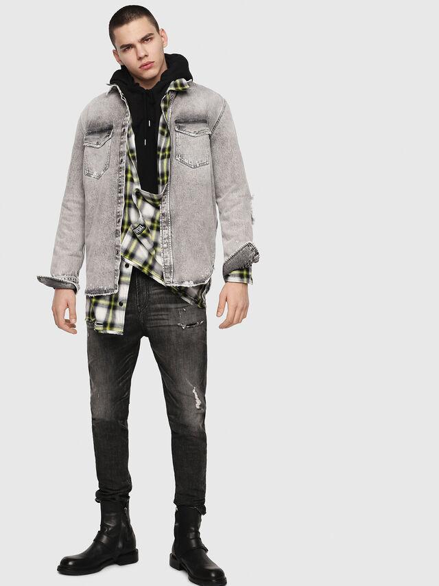 Diesel - D-Vider JoggJeans 0077S, Black/Dark grey - Jeans - Image 6