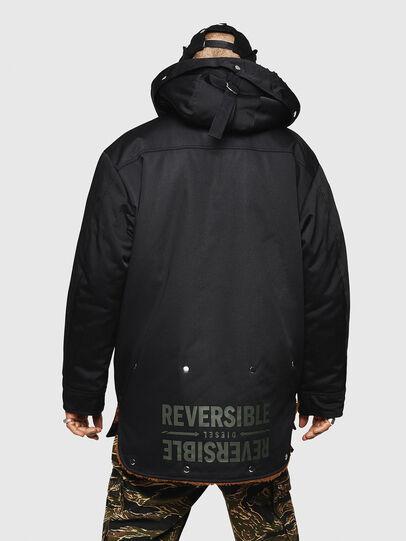 Diesel - W-PELSTIC, Black - Winter Jackets - Image 3