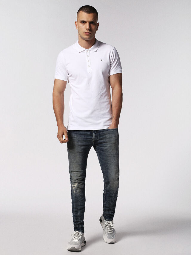 Diesel - T-HEAL, White - Polos - Image 1
