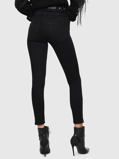 Diesel - Slandy Zip 069EF, Black/Dark grey - Jeans - Image 2