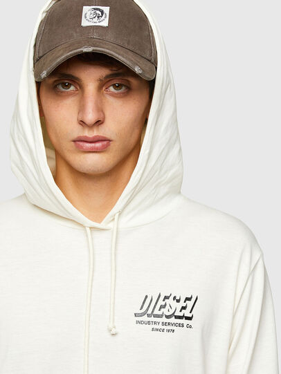 Diesel - T-JUST-LS-HOOD-SLITS, White - T-Shirts - Image 3