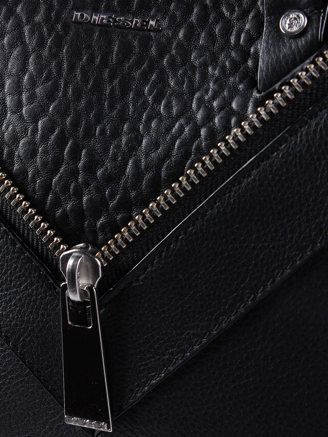 Diesel LE-TRASY, Black Leather - Satchels and Handbags - Image 5