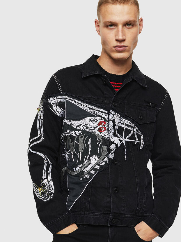 NHILL-SXY1, Black - Denim Jackets