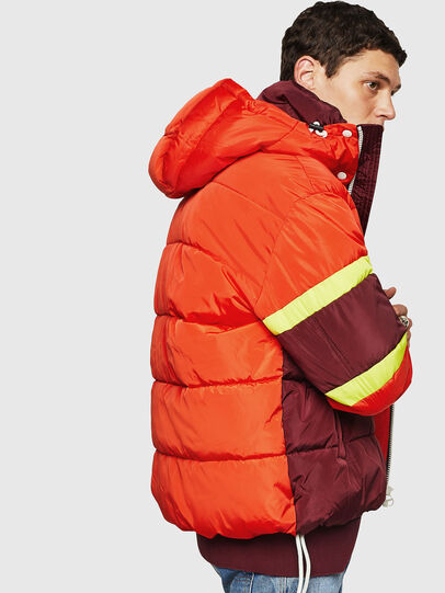 Diesel - W-MARTOS, Orange - Winter Jackets - Image 5