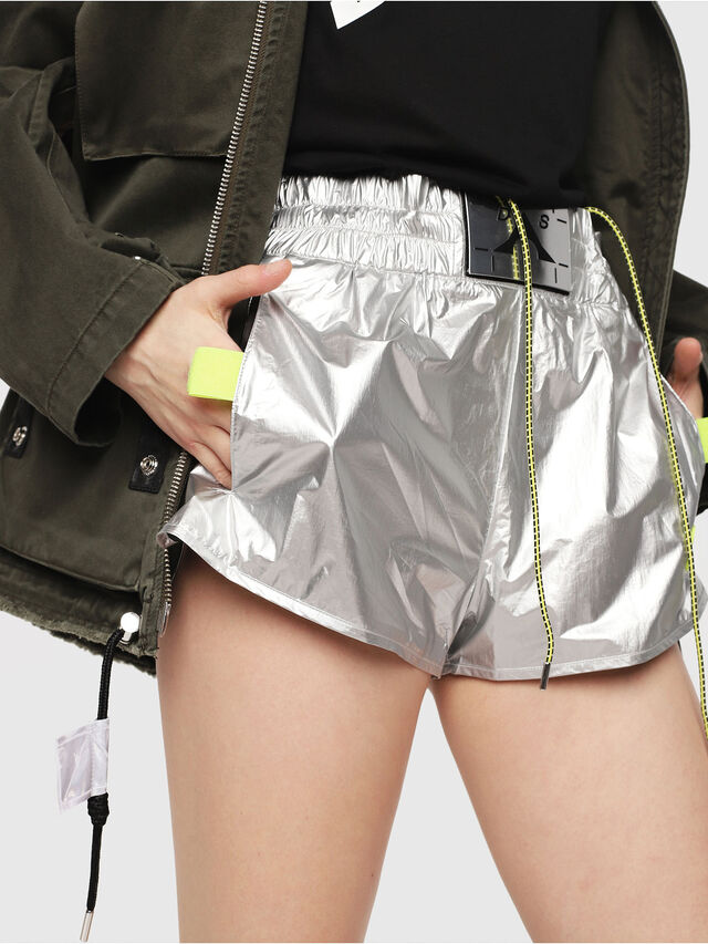 Diesel - S-DEMIBY, Silver - Shorts - Image 3