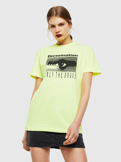 Diesel - T-DIEGO-J4, Yellow Fluo - T-Shirts - Image 2