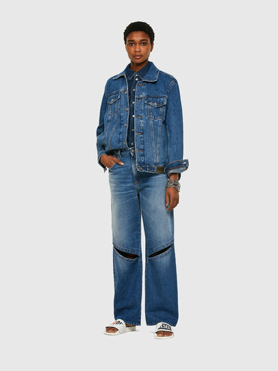 Diesel - NHILL-C1, Medium blue - Denim Jackets - Image 8