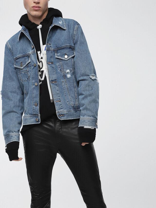 Diesel D-ROBYN, Blue Jeans - Denim Jackets - Image 1