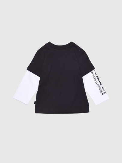 Diesel - TANCEB, Black/White - T-shirts and Tops - Image 2