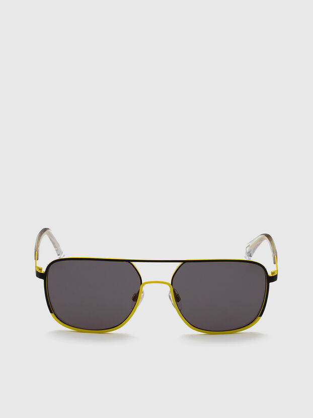 DL0325, Black/Yellow - Sunglasses