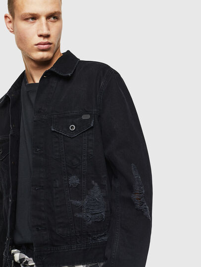 Diesel - D-BRAY, Black - Denim Jackets - Image 8