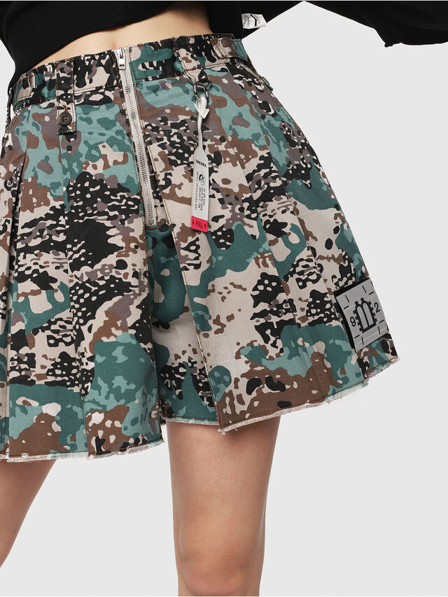 Diesel - S-EDEN-A, Green Camouflage - Shorts - Image 3