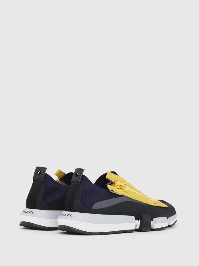 Diesel - H-PADOLA LOW ZIP, Blue/Yellow - Sneakers - Image 3