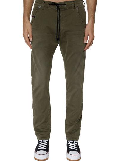 Diesel - Krooley JoggJeans® 0670M, Dark Green - Jeans - Image 1