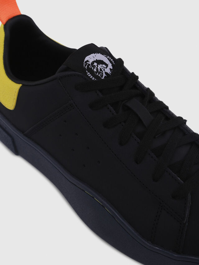 Diesel - S-CLEVER LOW, Black/Yellow - Sneakers - Image 4