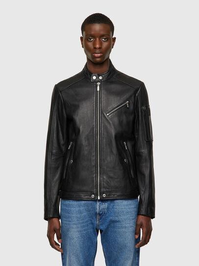 Diesel - L-CASE-KA, Black - Leather jackets - Image 1