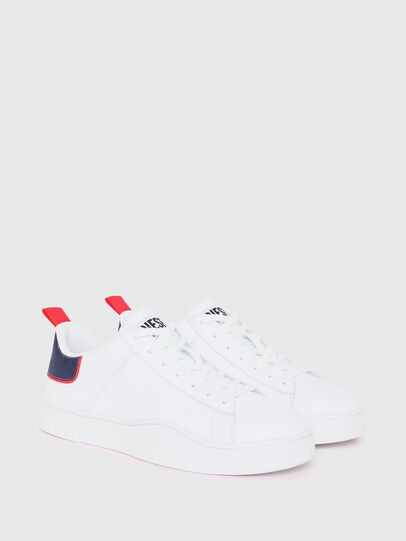 Diesel - S-CLEVER LOW LACE, White/Red - Sneakers - Image 2