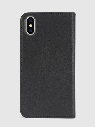 Diesel - BLACK DENIM/STUD/ZIPPER IPHONE X FOLIO, Black - Flip covers - Image 3