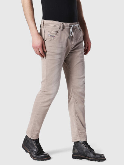 Diesel - Krooley JoggJeans 0670M, Light Brown - Jeans - Image 4