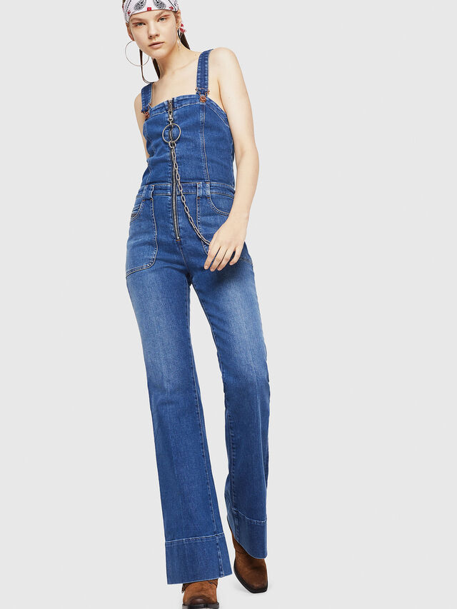 Diesel - DE-THINK, Blue Jeans - Jumpsuits - Image 1