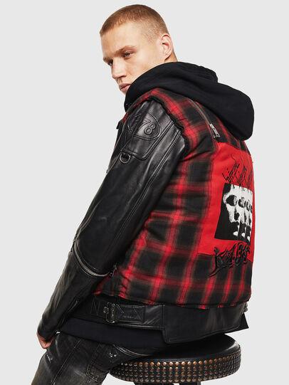 Diesel - L-NORMAN, Black - Leather jackets - Image 4